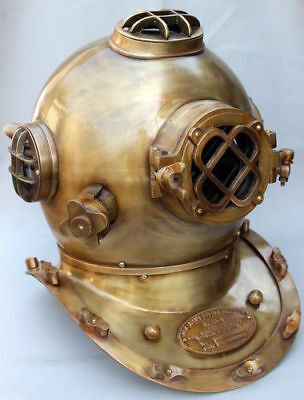 Antique Scuba SCA Divers Diving Helmet US Navy Mark V Deep Sea Full Size