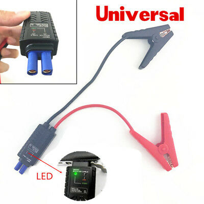 New Smart Alligator Clamp LED Lead Clips For Car Power Bank Jump Starter Battery