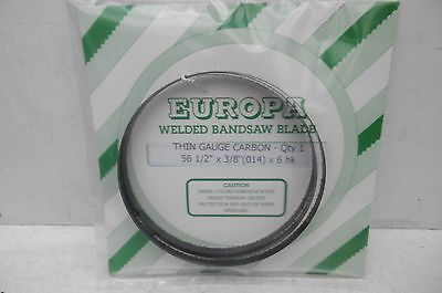 "Europa Thin Gauge Carbon Bandsaw Blade 561/2"" X 3/8"" X 6Tpi To Fit Burgess Bk1"