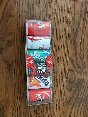 Coca Cola Brand Miniature Cans 6 cans