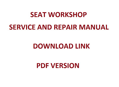 seat arosa pdf workshop service repair manual 2001 2004 16 99 rh picclick co uk Leon Seat Spoiler Seat Leon Diesel