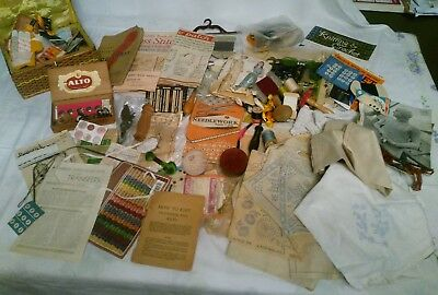 Large Collection of Vintage Craft Items - Reminiscence Therapy