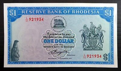 RHODESIA 1979 $1 Banknotes Used BE35