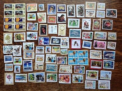 Collection Of Jersey Stamps Kiloware