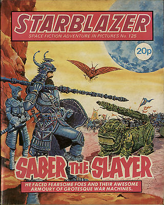 Saber The Slayer,starblazer Space Fiction Adventure In Pictures,no.125,1984