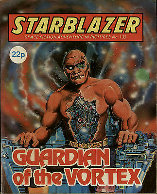 Guardian Of The Vortex,starblazer Space Fiction Adventure Pictures,no.137,1985