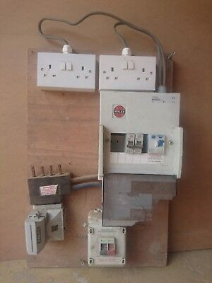 Mains fused distribution board power supply, ideal for building site. Wylex/RCD