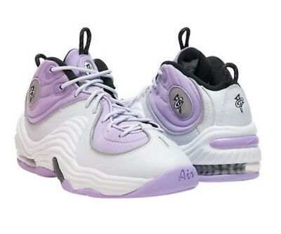 New Nike Air Penny II 2 Platinum Lilac Hardaway Shoes Hi Top Sneakers GIRLS 5/5Y