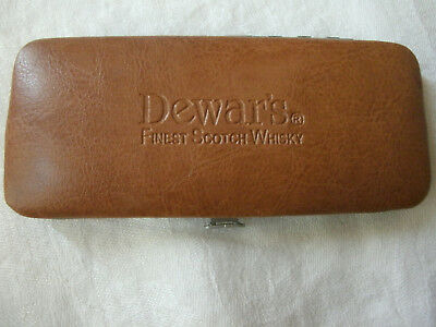 Dewar's Finest Scotch Whisky Leather Men's Manicure Set Collectible NEW