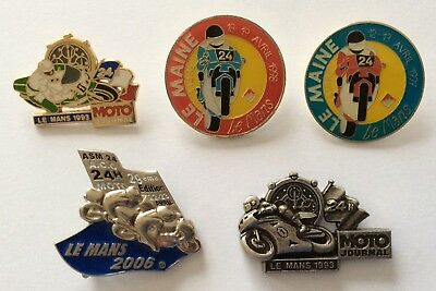 5 Pins Pin badge Broche Motos . 24 Heures Le Mans