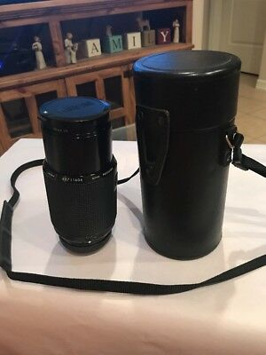 Kiron 70-210mm f/4 macro 1:4 lens with zoom lock Camera Lens & Vivitar Case