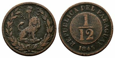 Lanz Paraguay Republic 1/12 Real 1845 Lion Scarce ^fmg4047