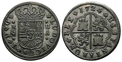 Lanz Spain Louis I Bourbon France 2 Reales 1724 Madrid Silver ^fmg4387