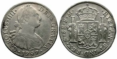 Lanz Spain Mexico Charles Iv Bourbon 8 Reales 1797 Spain ^fmg4045