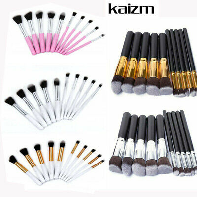10pcs Pro Makeup Brushes Face Powder Eyeshadow Kabuki Cosmetics Brush Tool Kits