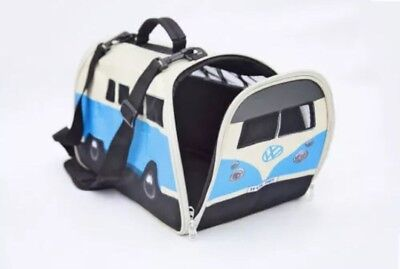 Camper Van Pet Carrier ,dog, Cat, Rabbit, Guinea Pig Travel Crate/Bed
