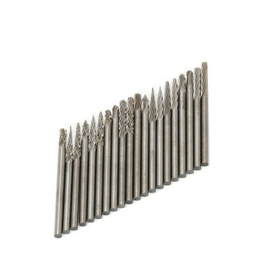 20Pack Tungsten Carbide Burr Rotary Drill Bits Tools Cutter Files Shank 2.35mm
