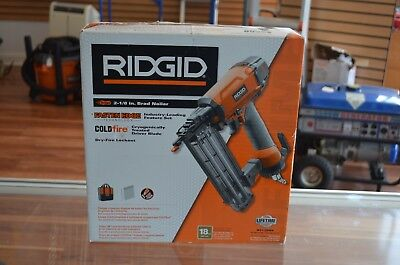 NEW IN BOX RIDGID R213BNE 18-Gauge 2-1/8 in. Brad Nailer Nail Gun FREE SHIPPING!