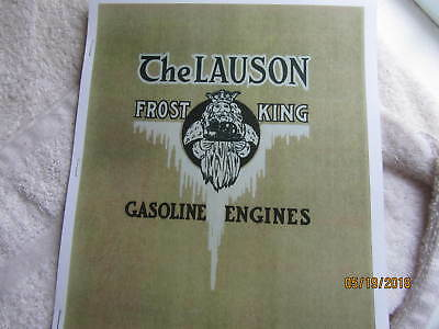 1914 John Lauson Manufacturing Frost King Gas Engine Catalog    All sizes