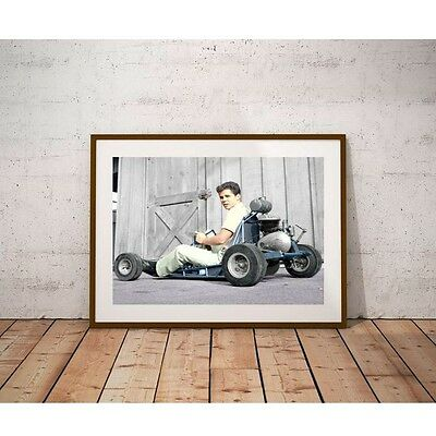 Tony Dow and his Go Kart Poster - Wally on Leave It To Beaver Television Show