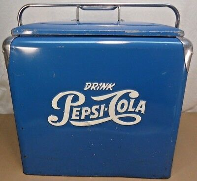 Vintage Pepsi Picnic Cooler, With Tray, All Original Clean