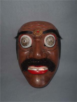 Antique Indonesia TOP HIGH AGED USED PAINTED WOOD JAVA BALI WAYANG TOPENG MASK