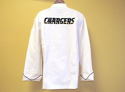 New Nfl San Diego Chargers Premium Chef Coat 100% Cotton Xl Size Football Chief
