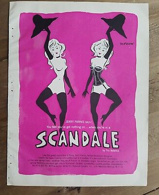 1955 Tru BALANCE SCANDALE women's girdle got nothing on Jerry Parnis says ad