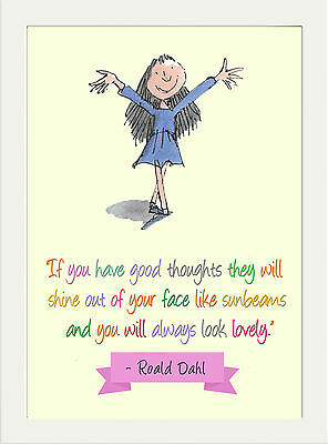Inspirational Roald Dahl Matilda Home Quote Childrens Kids A4 Poster Print Gift