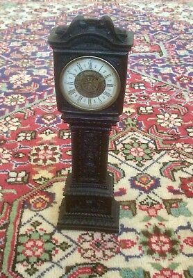 Vintage Miniature Grandfather Clock,PAICO Wind Up Mechanism,Dolls House,Desk,Old