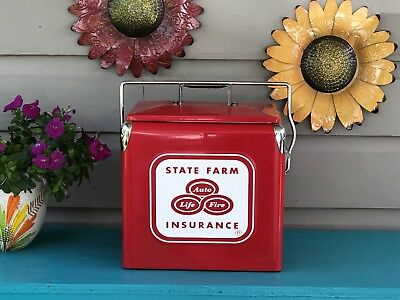 State Farm Advertising Metal Ice Chest Cooler Limited Edition