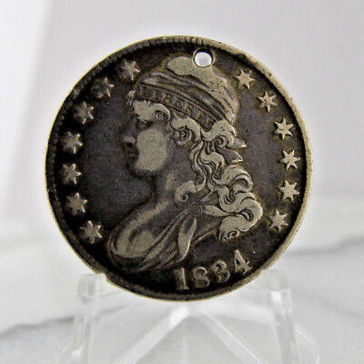 1834 Silver Half Dollar Hold Free Shipping No Reserve