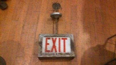 Vintage Exit Sign With Box perfect for man cave