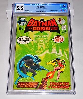 Batman 232 CGC 5.5 Off-White to White Pages SIGNED By Neal Adams