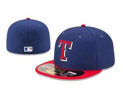 best website 85905 eaf47 New Era 59FIFTY 5950 TEXAS RANGERS Diamond Cap Batting Practice Fitted Hat