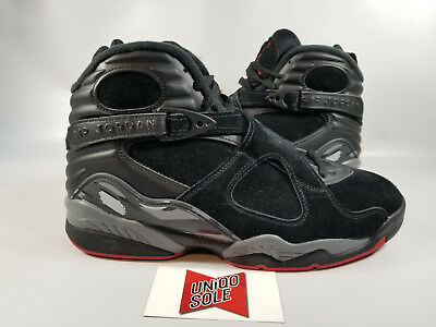 new concept ff926 48264 NIKE AIR JORDAN VIII 8 Retro ALTERNATE BRED BLACK CEMENT RED GREY  305381-022 17