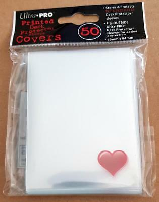 Ultra Pro Deck Printed Protector Sleeves 50 Card Motif Heart, for Pokemon