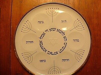Vintage Judaica Porcelain Passover Seder Plate Excellent Condition