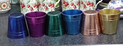 Vintage Retro Anodised Cups x 6 PEACOCK WARE STOKES MELB