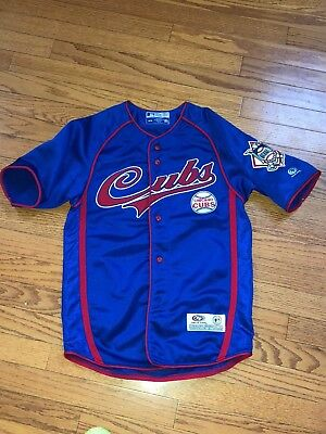 086175ae Youth Boys Chicago CUBS MLB True Fan Stitched Sewn Baseball Jerseys M 10-12  EUC