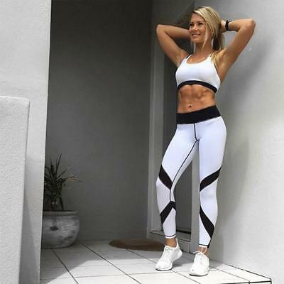 Women Yoga Workout Gym Cropped Leggings Fitness Sports Stretch Skinny Fit Pant B