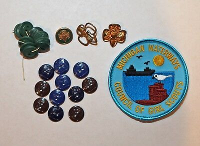Vintage Girl Scout buttons and pins