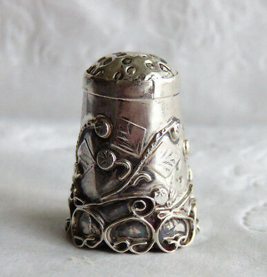 Vintage Mexico Sterling Silver Thimble Holes On Top