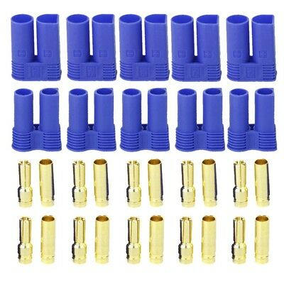 5 Pairs of EC5 Banana Plug Bullet Connector Female+Male for RC ESC LIPO Ba S8Q5