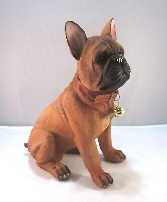 French Bulldog Statue Frenchie With Removable Collar Sign 11.75""