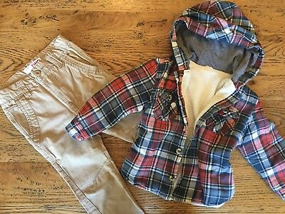 Boys Cotton On Pants And Jacket Size 2-3