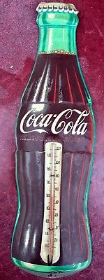 "Vintage 16"" Coca Cola Coke Thermometer ROBERTSON Advertising Sign"