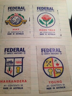 124 x Federal Matches matchbook covers 60' era- Military, Decimal changeover etc