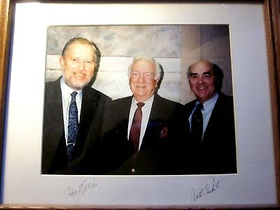 "1990 WALTER CRONKITE - RAY ELLIS AUTOGRAPH 8"" x 10"" COLOR PHOTO signed on Mat"
