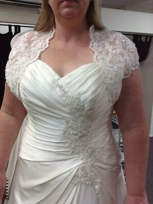 Size 16-18 A line wedding dress